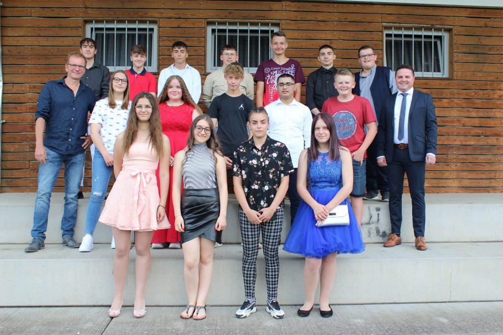 Foto der Abschlussklasse 9G aus dem Schuljahr 2020-2021